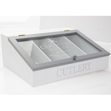Country Kitchen Cutlery Box