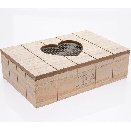 Heart Tea Box 25cm