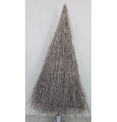 A large collection of grey toned twigs make up this beautifully rustic inspired tree