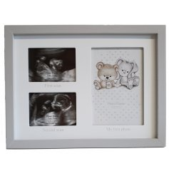 this First and Second Scan Picture plaque will be sure to make a wonderful gift idea for any Baby Shower