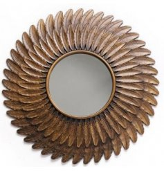 Bring a Luxe inspired vibe to any home interior with gorgeous round mirror