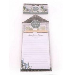 Delightful magnetic memo pad and pencil set from the Love Grows Here giftware range. Approx size 28 x 11 cm