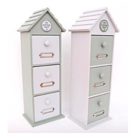 41 cm Love Grows Here Wooden Storage Drawers
