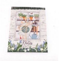 96 page A6 notebook, part of the Love Grows Here giftware range, measures approx 14.8 x 10.5 cm