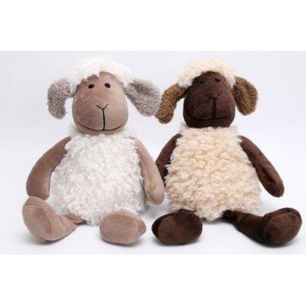 Sitting Sheep Doorstops, 2asst