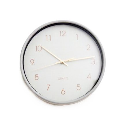 Grey Wall Clocks 25cm