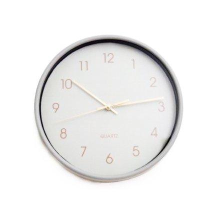 Round Wall Clock, 2ass 25cm