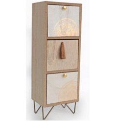 this 3 space storage draw unit will be sure to bring a trending touch to any home space