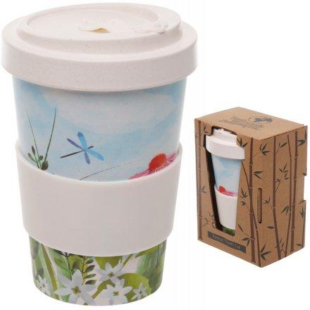 Botanical Printed Bamboo Travel Mug