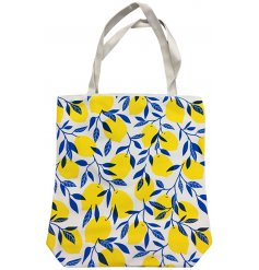 Covered with a fun Lemon print, this charming bag will make your shopping even more bright during the summer!