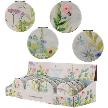 Assorted Compact Mirrors - Botanical Gardens
