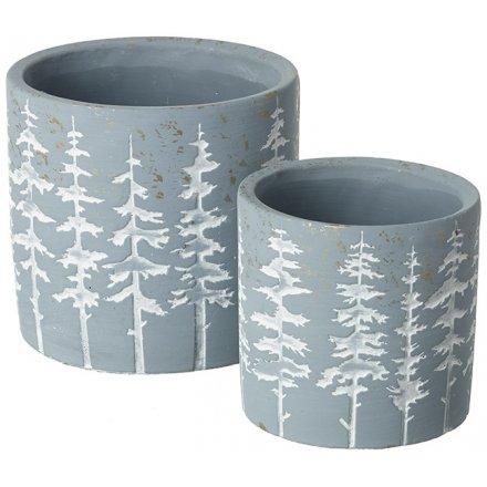Rustic Grey Set of Pots