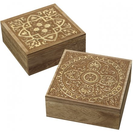 Assorted Wooden Storage Boxes