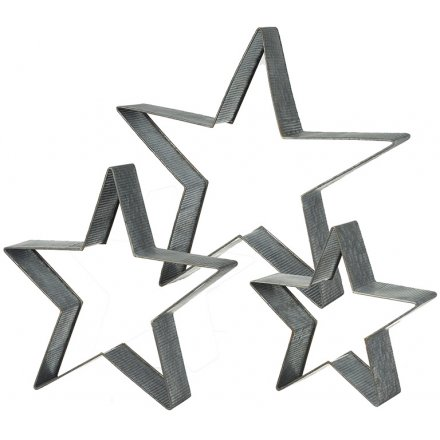 Metal Stars Set Of Three