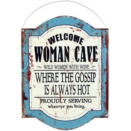 Vintage Womans Cave Plaque