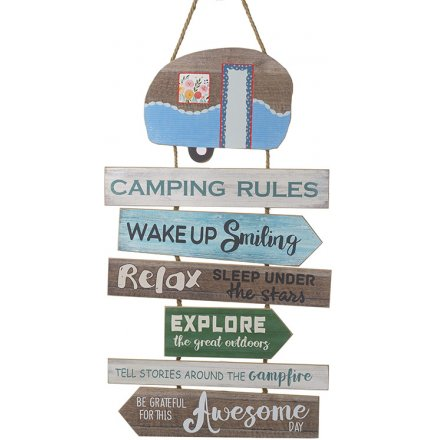 Camping Rules Tiered Plaque