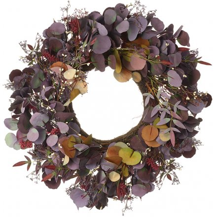 Large Russet & Purple Foliage Wreath