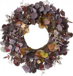 Bring a gorgeously elegant tone to your home interior with this beautiful thick foliage wreath