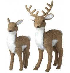 these beautifully standing Deer & Stag Couple will be sure to add a Winter Woodland theme to any space they stand in