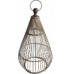 With a distressed setting and oval shaped finish, this bamboo lantern will be sure to place perfectly in any home space