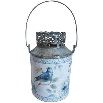 Blue Bird Metal Candle Holder 21cm