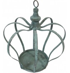 A Vintage inspired metal crown with an added distressed setting and rustic charm