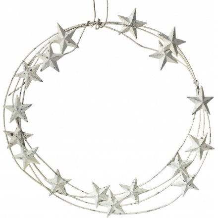 Hanging Metal Star Wreath