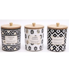These natural wooden lidded candle pots will be sure to place perfectly in any home space