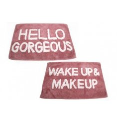 Wake up & Make up with this fabulous mix of pink toned bath mats
