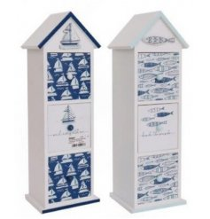 these nautical coloured storage draws will be sure to add a coastal sense to any space they're in