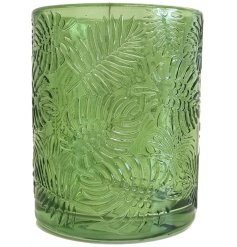 this charming green toned pot will be sure to tie in with any themed home space
