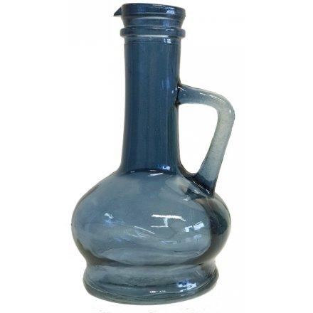 Blue Stemmed Neck Vase 46050 Interior Decor Jugs Vases
