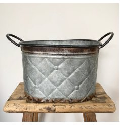 this zinc trough will be sure to add Character to any home space