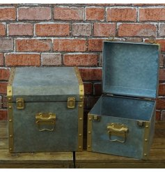 this Farmers Market inspired set of trunks will be sure to add Character to any space