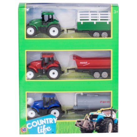 Tractor and Trailer Pack of 3