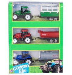 An adorable assortment of Tractor and Trailers perfect for little farmers