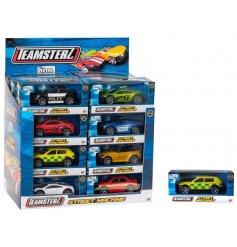 A diecast Teamsterz street machine pocket money toy car