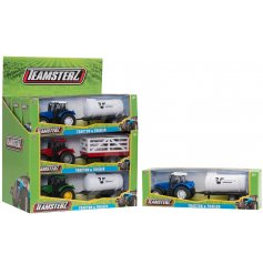 Gift boxed tractor and trailer childs toy