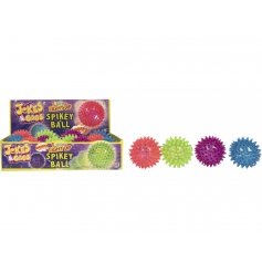 A vibrant light up spikey ball, pocket money item