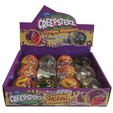 Filled with slipper snakes and gross spiders, these LED Flashing Bouncy Balls will make great pocket money toys for kids