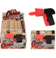 A classic children's toy spud gun