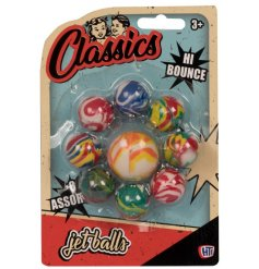 A retro classic set of high bouncing balls