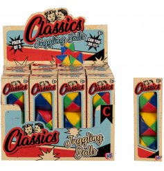 A retro set of classic juggling balls