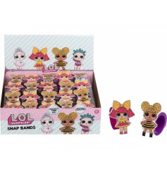 A variety of fab LOL Doll snap band braclets