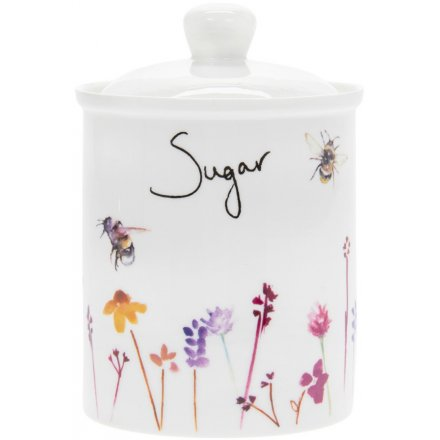Busy Bee Ceramic Sugar Canister