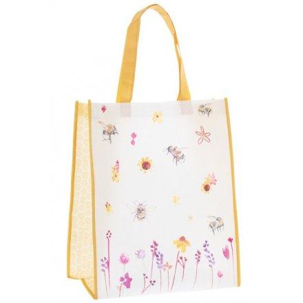 Busy Bee Garden Fabric Shopper 40cm