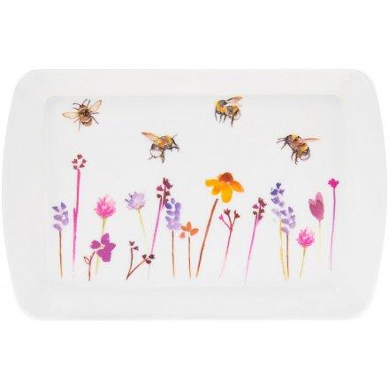 Busy Bee Garden Serving Tray - Small 24cm
