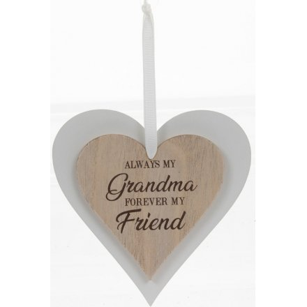 Always My Grandma Sentiments Heart Hanger
