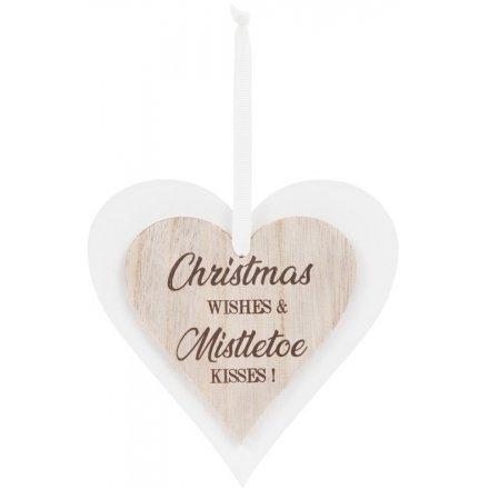Christmas Wishes & Mistletoe Kisses Sign