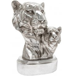 Bring a statement look to any sideboard or unit in the home with this beautifully finished Silver Art Tiger Bust